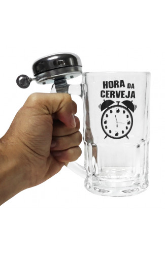 Caneca Campainha Hora da Cerveja