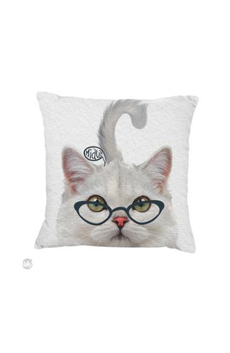 Capa de Almofada - Gato