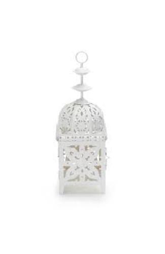 Lanterna Marroquina Metal Branca