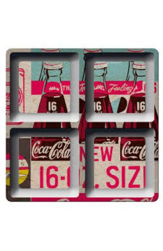 Petisqueira Coca Cola Quadrada Colorida