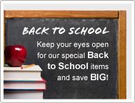 Fique atento a nossos itens da Volta às Aulas e economize BASTANTE!